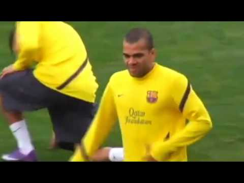 FC Barcelona Training Session Rondo Possession