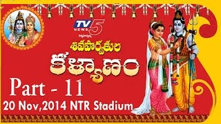 Shiva Parvathula Kalyanam TV5 NTR Stadium, 20th Nov 2014 | Part - 11 : TV5 News - TV5NEWSCHANNEL