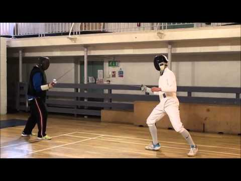 Foil Fencing Lesson Adam Blight & Ayman - 1