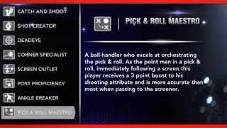 NBA 2K14 Signature Skills
