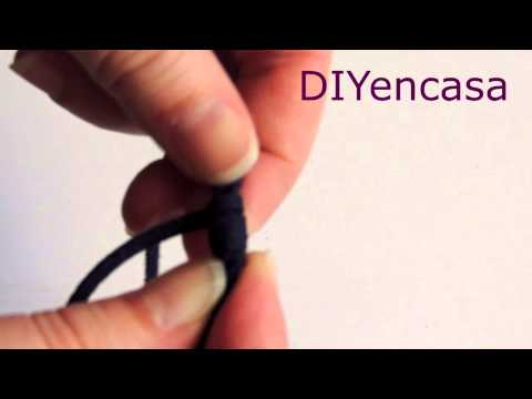 Tutorial DIY pulsera nudo corredizo.