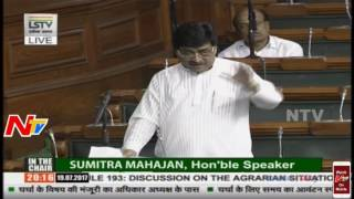 Tariq Anwar Speech @The Agrarian Situation in the Country || Lok Sabha - NTVTELUGUHD