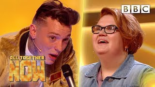 Student Carys' beautiful singing breaks our punk rockers! – All Together Now - BBC