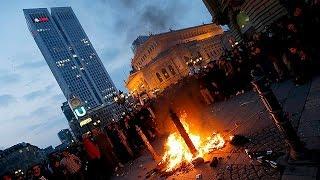 احتجاجات ألمانية تسفر عن إصابة 94 شرطيا وأكثر من مائة متظاهر