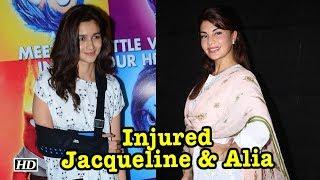 Jacqueline & Alia injured while shooting action scenes - IANSINDIA