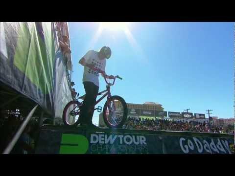 Brett Banasiewicz Pink Bike - Dew Tour Las Vegas BMX Park Finals Run 1