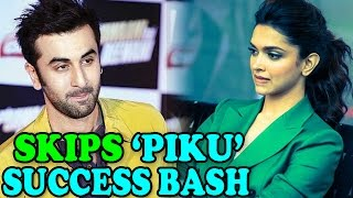 Ranbir Kapoor misses Deepika Padukone's success party for Movie 'Piku' | EXCLUSIVE