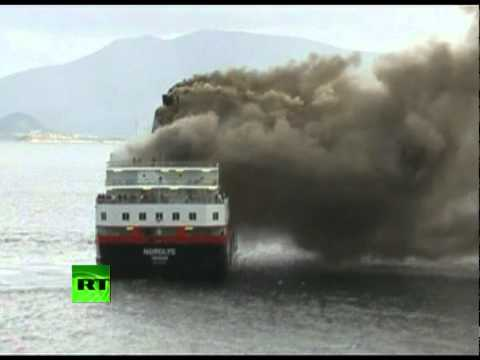 Dramatic Video: Raging fire kills 2 on Norwegian cruise ship