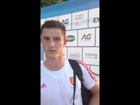Fintro EuroHockey Junior Championships 2014 Day 3 - Post match interview ENG-POL 6-2 Luke Taylor
