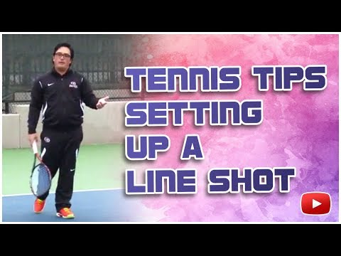 Tennis Tips and Techniques - Setting Up a Line Shot - Coach Ryan Redondo