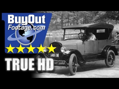 HD Stock Footage Ford Model T Assembly Line and Autos 1920's