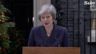 LIVE: Theresa May speaks outside Downing Street after her MPs trigger vote of no confidence - THESUNNEWSPAPER