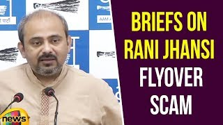 Dilip Pandey Briefs on Rani Jhansi Flyover Scam | AAP Alleges on Modi Govt | Mango News - MANGONEWS