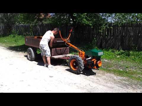 Motocultor Diesel cu remorca