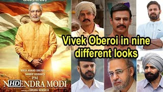 PM Narendra Modi  | Vivek Oberoi in nine different looks - BOLLYWOODCOUNTRY