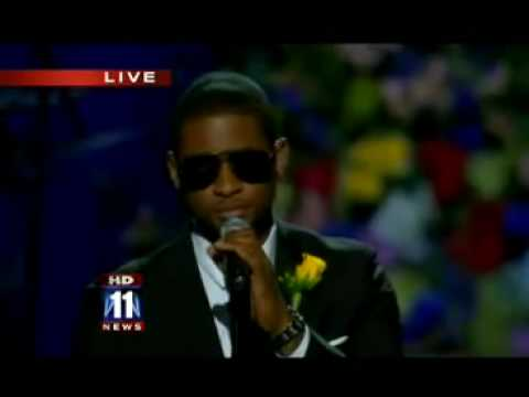 Michael Jackson Funeral - Usher singing 'Gone To Soon'