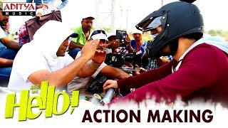 HELLO! Movie Action Making   Akhil Akkineni, Kalyani Priyadarshan   Vikram K Kumar   Nagarjuna - ADITYAMUSIC