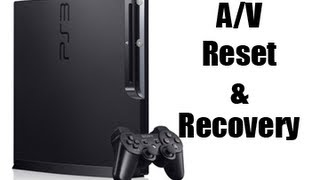 How to Reset A/V Settings & Boot Recovery Mode [PS3]