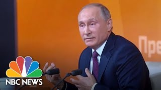 Vladimir Putin Scoffs At Suggestions Of Collusion Between Russia And Trump Campaign | NBC News - NBCNEWS