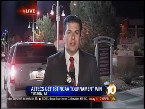 10News Sports Director Nearly Run Down on Live TV