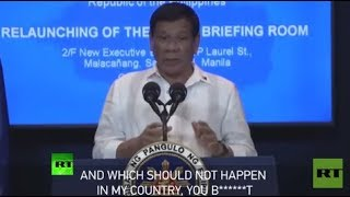'You bullsh*t': Duterte threatens to expel EU diplomats from Manila - RUSSIATODAY