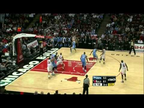 Derrick Rose Highlights vs Nuggets [HD] (11.8.10)