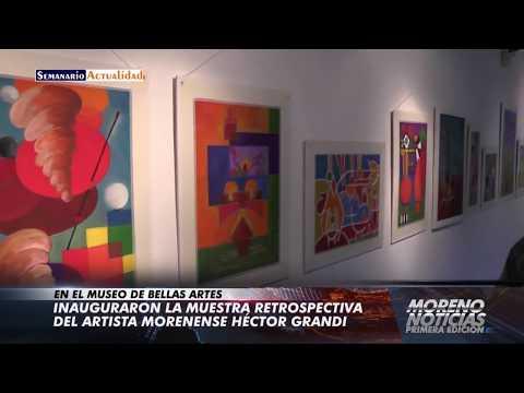 Inauguraron la muestra retrospectiva del artista morenense Héctor Grandi