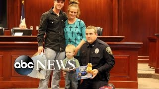Officer Saves Boy Using CPR [CAUGHT ON TAPE] - ABCNEWS