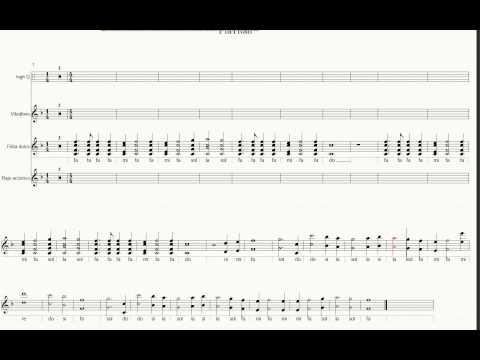 Las notas flauta de Titanic.