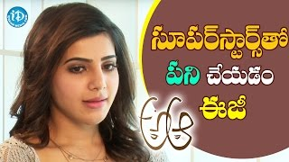 Working With Superstars Is Way More Easy - Samantha || #Brahmotsavam || Talking Movies With iDream - IDREAMMOVIES