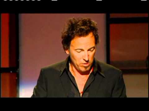 Bruce Springsteen inducts Jackson Browne Rock and Roll Hall of Fame inductions 2004