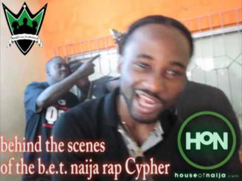 behind the scenes of the b.e.t. naija  rap Cypher Ice Prince, M.I, Modenine, Naeto C, Sauce Kid
