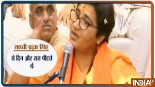 Sadhvi Pragya Thakur Breaks Down Recalling Her 'Torture' In Custody - INDIATV