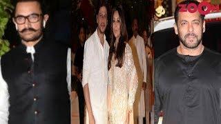 Aamir, SRK & Salman Join Ganesh Chaturthi Bash At Ambani House| Bollywood News - ZOOMDEKHO