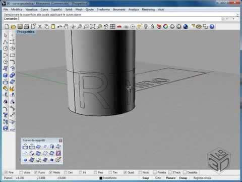 Video corso di McNeel Rhinoceros V4 - Crea e applica curve UV