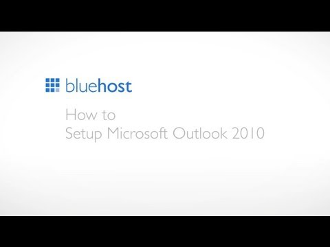 How to setup Microsoft Outlook 2010