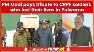 PM Narendra Modi pays tribute to CRPF soldiers who lost their lives in Pulwama district - NEWSXLIVE
