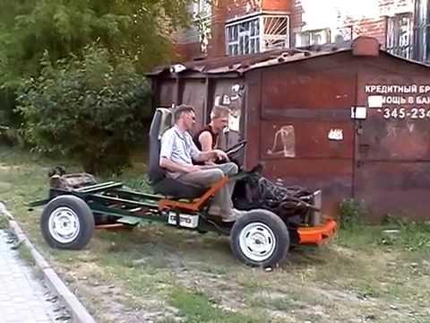 Как из жигулей сделать самодельный трактор