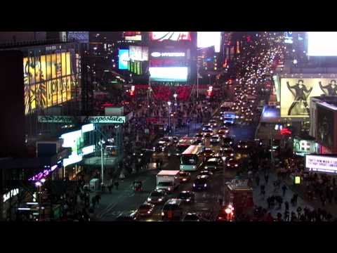 CHROMA KEY BACKGROUND - Times Square at Rush Hour (2011)