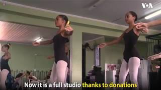 Ballet school in Rio de Janeiro's most violent shanty town gives Brazilian girls a chance to dance. - VOAVIDEO