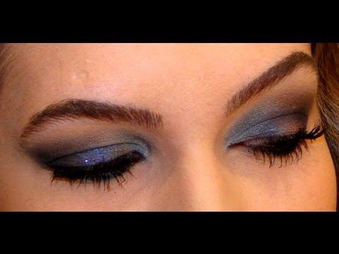 Maquiagem com sombra azul por Alice Salazar