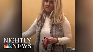 Viral Video Shows White Woman Stopping Black Man From Entering His Own Apartment | NBC Nightly News - NBCNEWS