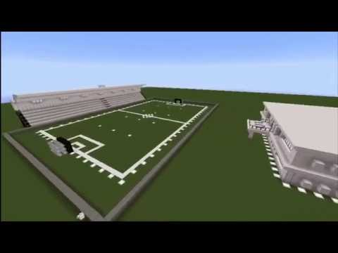 | MINECRAFT | Estadio de Futbol + Casa Moderna :D | DESCARGA |