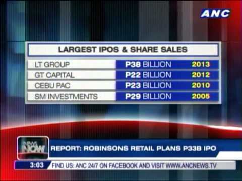 Robinsons Retail plans P33B IPO - report