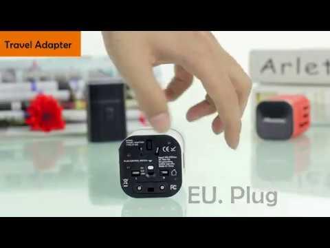 Universal Travel Adapter Plug UK USA EU Worldwide Универсальный адаптер для путешествий