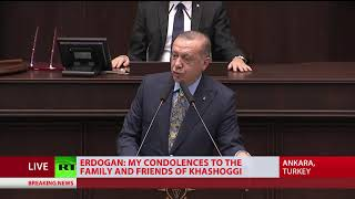 Erdogan details events preceding Khashoggi's death in Saudi consulate - RUSSIATODAY