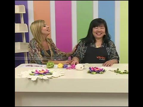Toalha de mesa com Cristina Luriko e Pintura com Márcia Caires   Vitrine do artesanato na TV