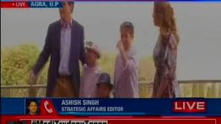 Canadian Prime Minister Justin Trudeau , along with his wife & Kids visits  Taj Mahal in Agra - NEWSXLIVE
