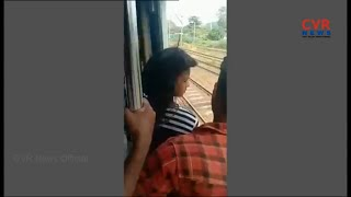 Viral Video: Girl falls off Mumbai Local Train, saved by fellow Passengers | CVR News - CVRNEWSOFFICIAL