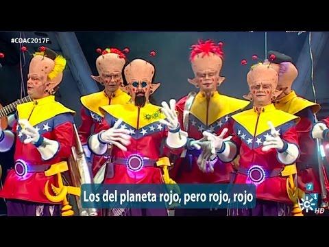 Sesión de Final, la agrupación Los del planeta rojo, pero rojo, rojo actúa hoy en la modalidad de Chirigotas.